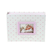 New Baby Girl Gift Imprint Kit with Pastel Pink Keepsake Box and Photo Window with Clay Casting Kit