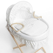 White Broderie Anglaise Spare Replacement Moses Basket Dressing Covers Bedding (NO BASKET) UK MADE