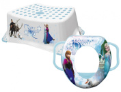 Disney Frozen Child/Toddler Toilet Training SOFT Seat & Step Stool Combo