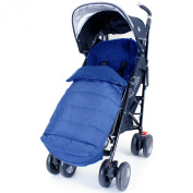 XXL Large Luxury Foot-muff And Liner For Maclaren Techno XT - Navy