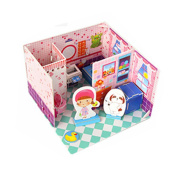 Intelligence Toys 3D Children Paper Jigsaw Puzzles Building Model Bedroom