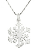 Ornami Sterling Silver Snowflake Pendant with Chain of 46cm