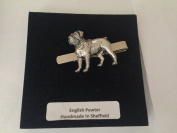 D15 Rottweiler English Pewter emblem on a Tie Clip (slide) Handmade in sheffield comes with PrideInDetails gift box