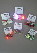 1029 Christmas Flashing Festive Earrings for pierced ears