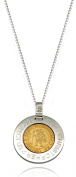 Tuscany Silver Two-Tone St. Christopher Pendant on Chain Necklace of 51 cm/20-inch