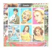 Classic Actresses - Stamps for Collectors - 9 mint stamps of classic female actors - never mounted and never hinged stamp sheet
