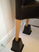 Mobility Aid - Set of 4 STURDY Stable Square Furniture /Chair /Settee lift up Raisers -Bed risers