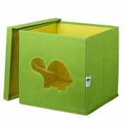 Store.It 750 060 Toy Box with Turtle Shaped Window 30 x 30 x 30 cm Green