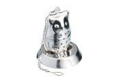 Le'Xpress Stainless Steel Novelty Owl Tea Infuser, Silver