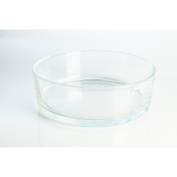 "Circular glass bowl / decorative plate VERA, clear, 3.15"" / 8 cm, Ø 9.84"" / 25 cm - fruit bowl / decorative dish - INNA Glas"