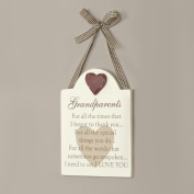 Luxury Wooden Grandparents Wooden Hanging Gift Plaque H15.5 x W12cm - Great Value Gift Idea