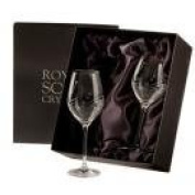 DSB2LW 2 New Stunning Large Wine Glasses in Lovely Presentation Case
