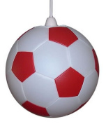 Red and White Football Lampshade