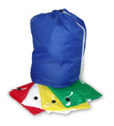 Extra Large heavy duty laundry bag / sack with drawstring commercial style. webb handle on base for of carrying