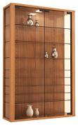 "VCM ""Vitrosa Mini"" Wall Cabinet with LED Lighting, Core Walnut"