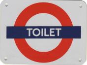 London Underground TOILET enamelled small steel sign