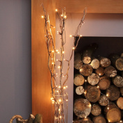 5 x 90cm Decorative Twig Lights with 50 Warm White LEDs by Festive Lights