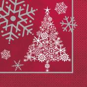 Christmas Tree and Snowflake Sparkle Party Napkins 16pk