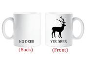 Yes Deer No Deer Mug Novelty Husband Boyfriend Gift Cup Funny Birthday Christmas Anniversary
