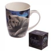 New Bone China Mug Fantasy Wolf Guardian Christmas Gift Idea