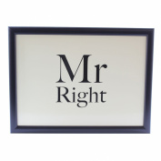 Mr Right Padded Laptray Bean Bag Cushioned Lap Tray Gift For Him