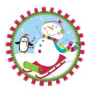 Amscan 26.6 cm Joyful Snowman Paper Plates
