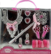 Pink Play Fashion Jewellery And Wand Gift Set - Princess Dressing Up Toy