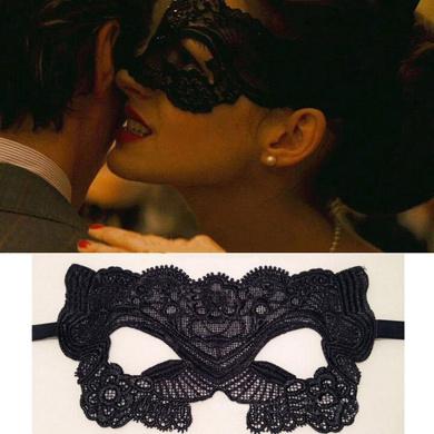 Unho Beautiful Venetian Masquerade Fancy Dress Sexy Catwoman Batman Black Lace Eye Mask Carnival Eye Mask Party