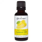 Cococare 100% Natural Lemon Oil, Citrus Medica Limonum, 1 Fl Oz