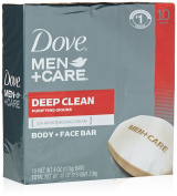 Dove Men+Care Body and Face Bar, Deep Clean 120ml, 10 Bar