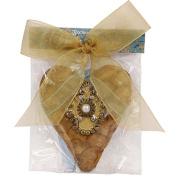 Aromatique Flower Petal Heart Sachet w Medallion 33-173 Splendour