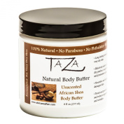 Premium Taza Natural Unscented African Shea Body Butter, 8 fl oz (237 ml) ♦ Gives You Intense Moisture For Very Dry Skin ♦ Enriched With