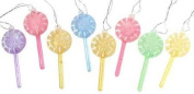 Package of Cute Mini Plastic Candy Coloured Lollipop Ornaments with Light Sugary Accent Package of 24 [Office Product]