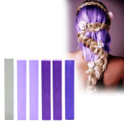 Dye your hair Purple Ombre | Hair Dye Set | LAVENDER OMBRE Vibrant Hair Chalk | With Shades of Silver, 2x Lilac, 2x Purple & Indigo A Pack of 6 Vibrant Hair Dye | Colour your Hair Lilac Violet Ombre in seconds with temporary HairChalk