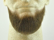 Rubies Full Chin Beard MEDIUM BROWN - no. 2023 - REALISTIC! 100% Human Hair