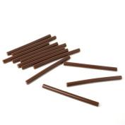 UNIQUEBELLA 12pcs Brown Fusion Keratin Glue Stick for Hair Extension