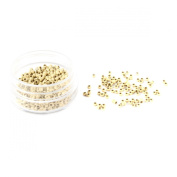 UNIQUEBELLA 2.5mm 1000 Aluminium Nano Micro Rings/Links/Beads For Nano Rings Hair Extensions Beige White