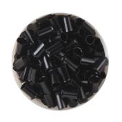 UQ 1000 PCS 3.5mm Black Colour Copper Tubes Beads Locks Micro Rings for Hair Extensions