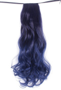 Diforbeauty 50cm Long Big Curly Wave Chromatic Synthetic Wrap Hair Ponytail