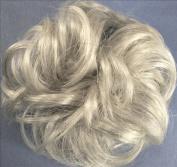 LACEY 7.6cm Pony Fastener Hair Scrunchie - 59 Grey with 5% Black