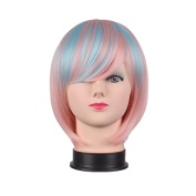 Diforbeauty Short Straight Multi-colour Synthetic Hair Cosplay Party Wigs