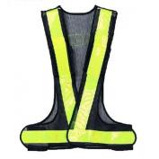TOOGOO(R)Hi-Viz Reflective Vest High Visibility Warning Traffic Construction Safety Gear Black Yellow