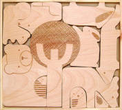 Petit Collage Wood Puzzle Plus Play, Forest Jumble