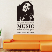 Fange One Good Thing About Music Proverbs DIY Vinyl Wall Stickers 110cm x 60cm