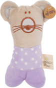 Olives and Pickles Organic Teething Rattle, Adelie The Mouse, Small