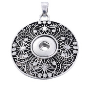 ZARABE Snap Pendant fit Snap Mini Button Rhinestone Tracery Carve 4.5x3.5cm