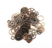 Yueton 100 Gramme Assorted Antique Steampunk Gears Charms Pendant Clock Watch Wheel Gear for Crafting, Jewellery Making Accessory