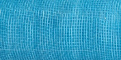 "Brand New Mesh Metallic Ribbon 50cm ""X10yd-Turquoise Brand New"