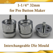 "Asc365 32mm 1-1/4"" Interchangeable Die Mould for Pro N3 N4 Badge Button Maker"