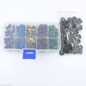 CHENGYIDA 100pc 10mm 5 Mix Colour Plastic Safety Eyes For Teddy Bear Doll Animal Puppet Craft